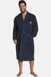 Jan Vanderstorm Plus Size badstof badjas Janning donkerblauw, Donkerblauw