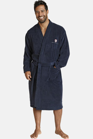 Plus Size badstof badjas Janning donkerblauw