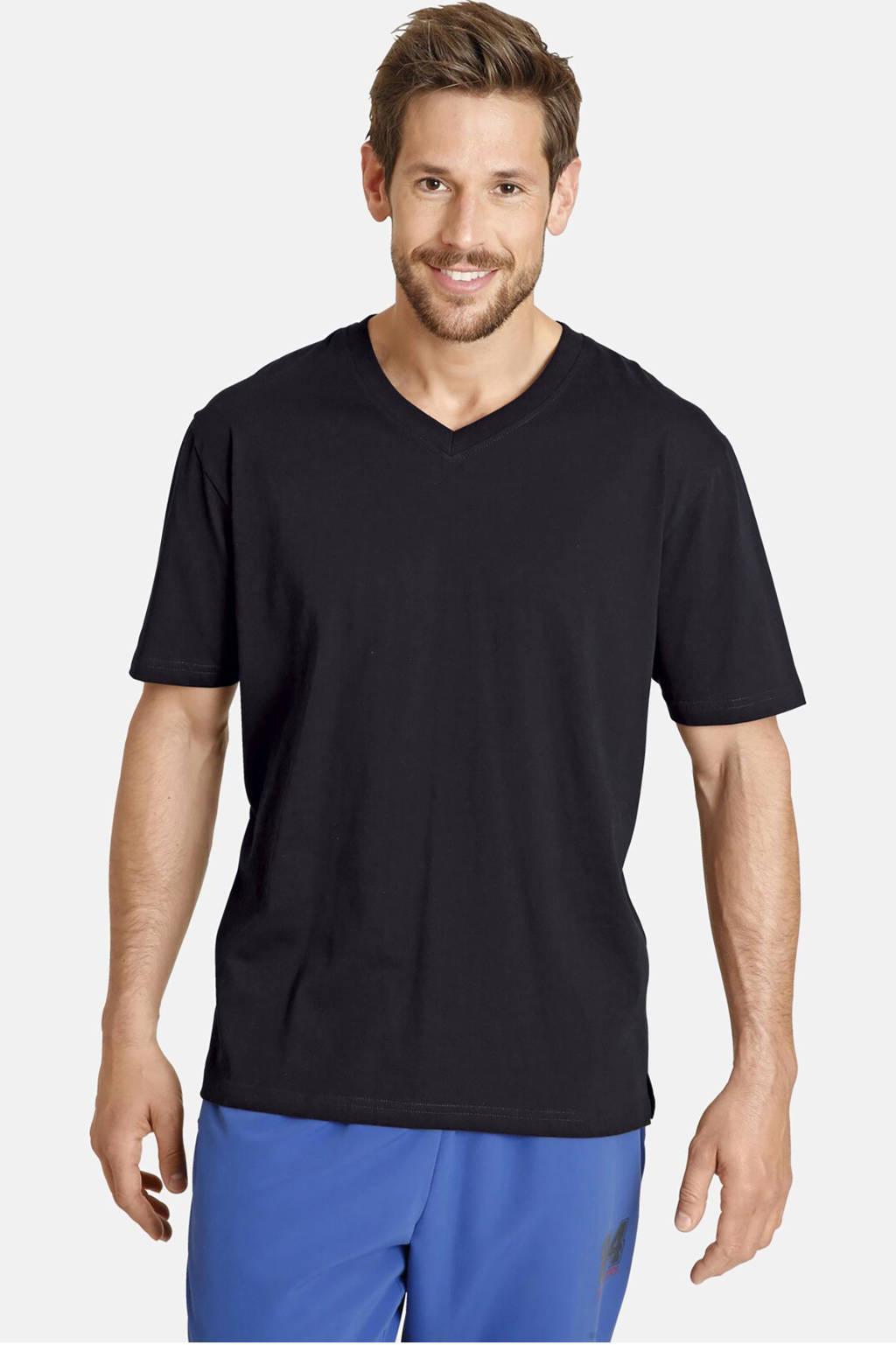 Jan Vanderstorm basic T-shirt Osmo - (set van 2), Zwart