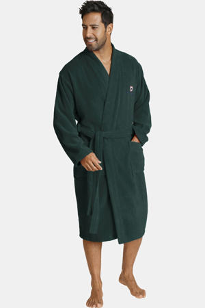 Plus Size badstof badjas JANNING donkergroen