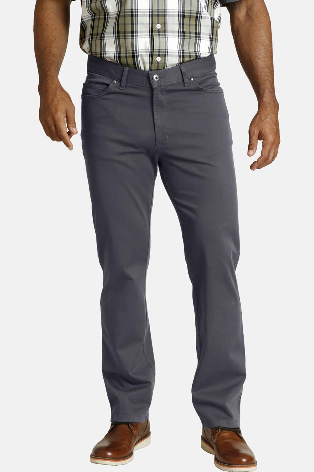 Jan Vanderstorm regular fit broek Plus Size TEJA (set van 2), Grijs en zwart