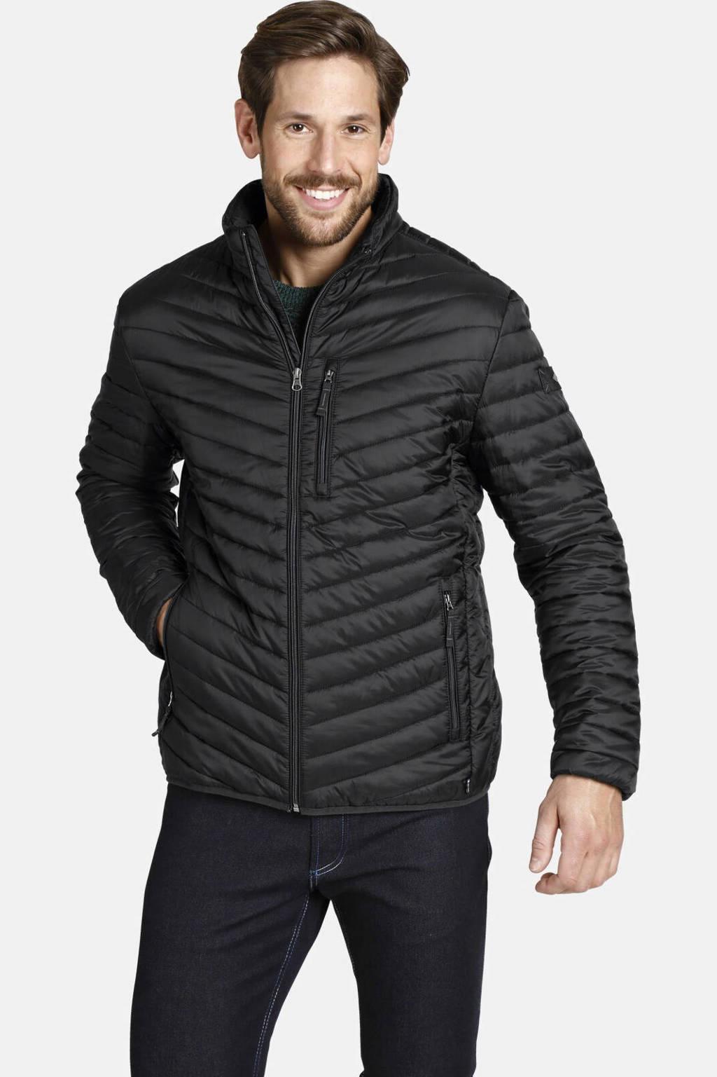 Jan Vanderstorm jack Plus Size Dankrad zwart, Zwart