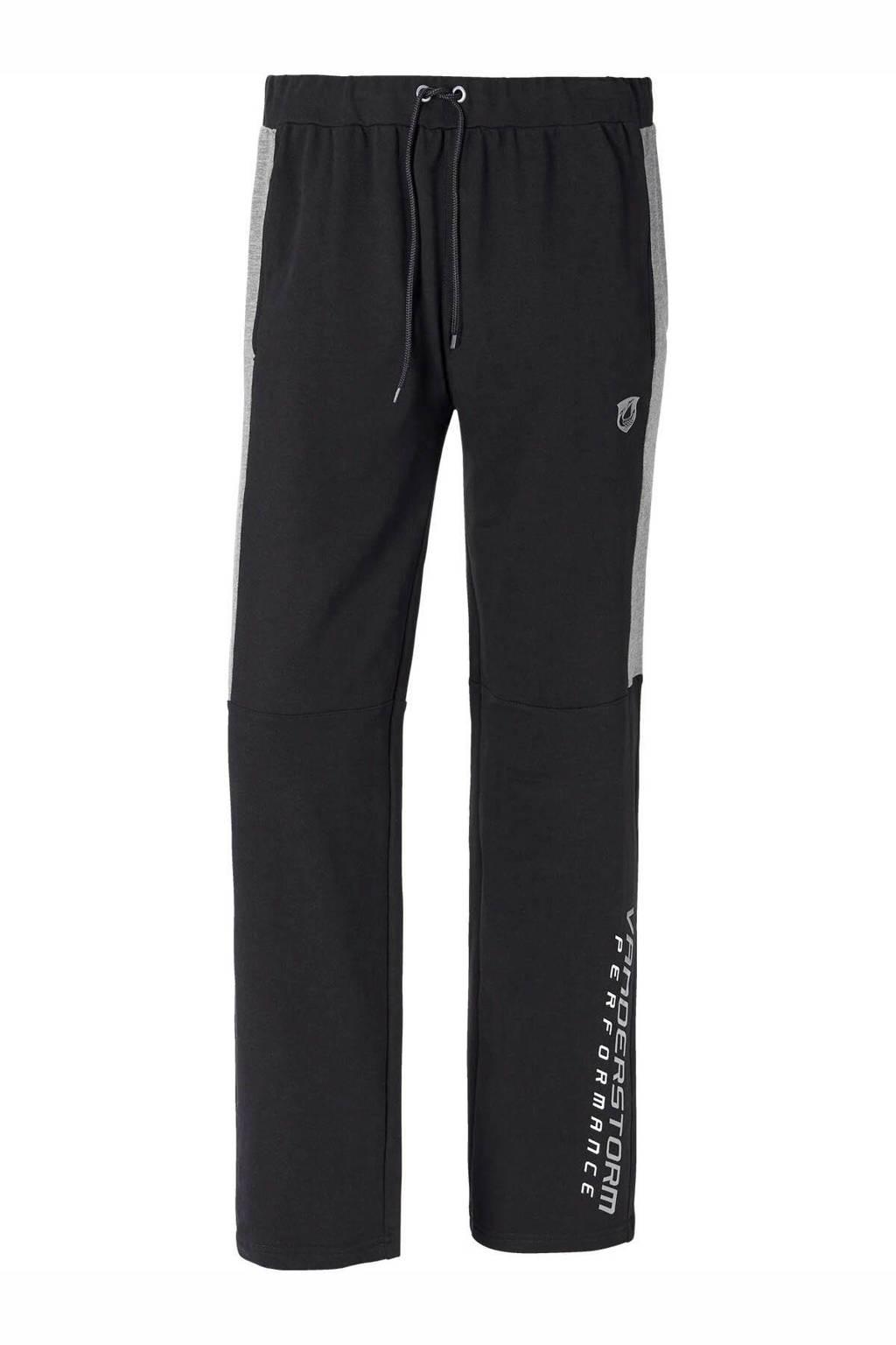Jan Vanderstorm joggingbroek Plus Size zwart/grijs, Zwart/grijs