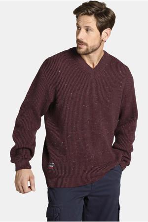 gemeleerde grofgebreide trui Plus Size Andrin donkerrood