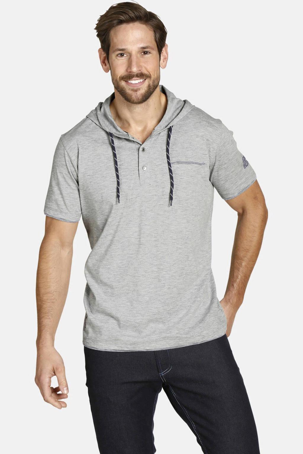 Jan Vanderstorm T-shirt Plus Size Offe lichtgrijs melange, Lichtgrijs melange