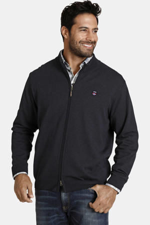oversized fit vest Plus Size Agner donkerblauw