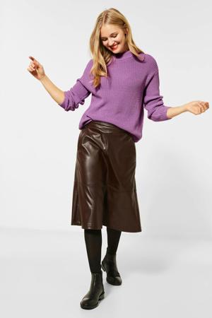 gebreide trui paars