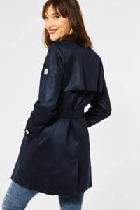 Street One  coat met ceintuur blauw, Blauw