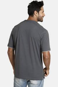 Jan Vanderstorm regular fit T-shirt Plus Size Nante met printopdruk grijs, Grijs