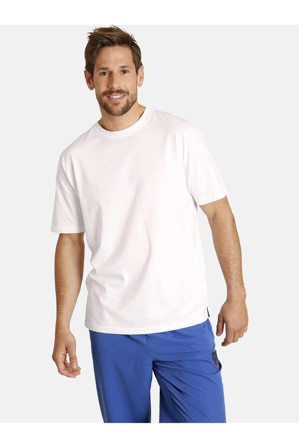 Jan Vanderstorm T-shirt Plus Size Erke - (set van 2), Wit