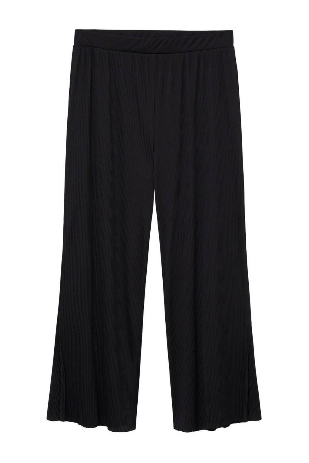 Violeta by Mango loose fit broek zwart, Zwart