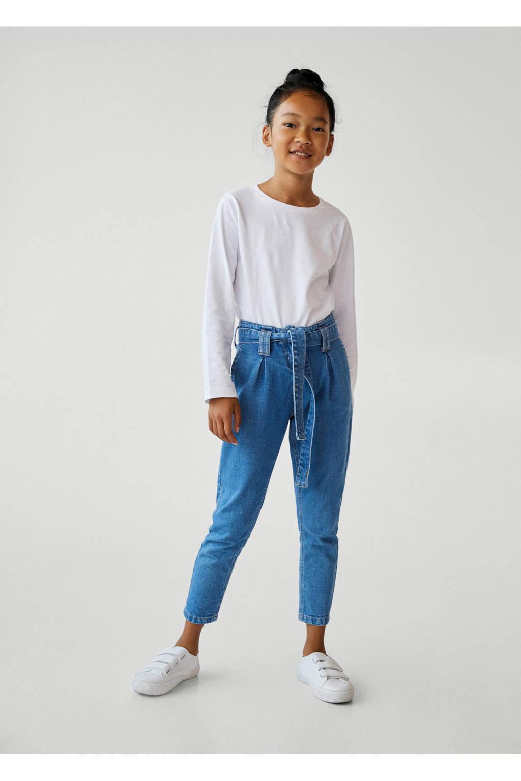 Mango Kids loose fit jeans changeant blauw