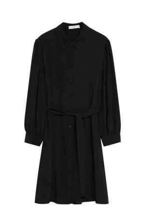 blousejurk met plooien zwart
