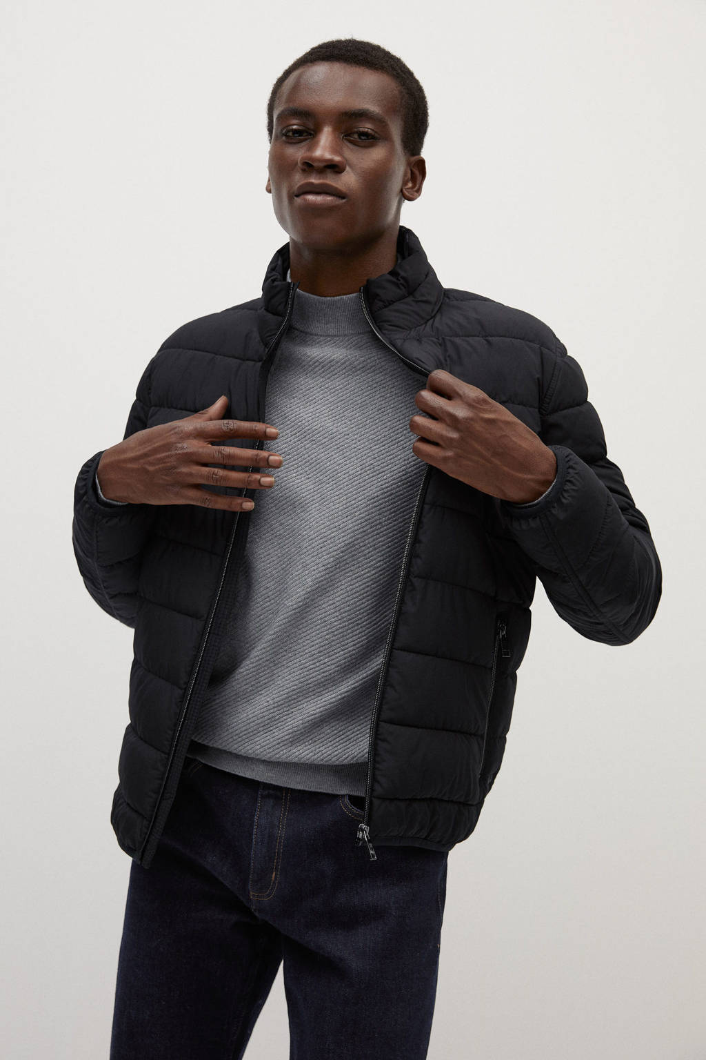 Mango Man jas zwart, Zwart