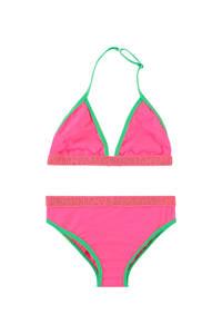 Vingino triangel bikini Zelvira roze/groen, Roze/groen