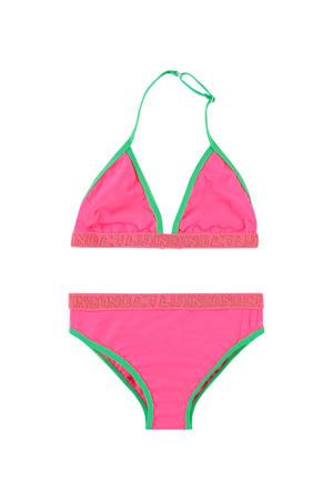 triangel bikini Zelvira roze/groen