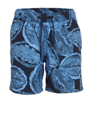 zwemshort Kenny met all over print blauw