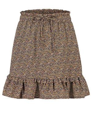 gebloemde rok Kayle groen/bruin/geel