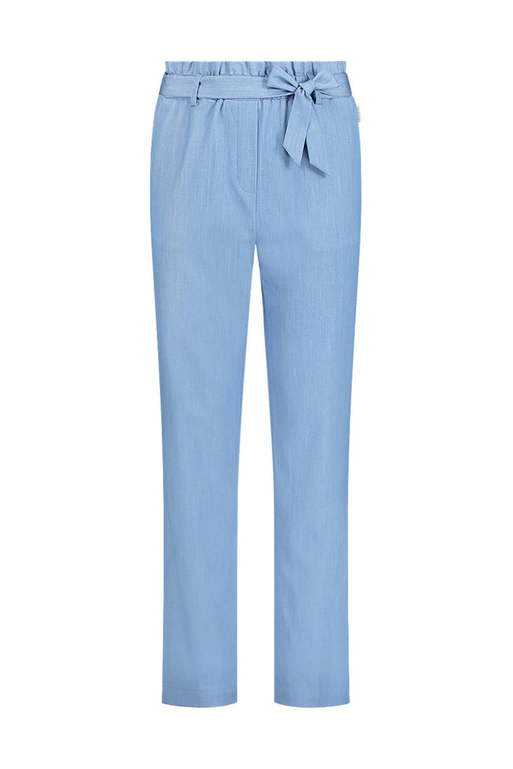 AI&KO high waist tapered fit broek Mesdi blauw, Blauw