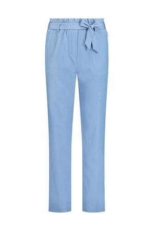 high waist tapered fit broek Mesdi blauw