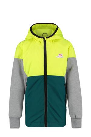 zomerjas Tesmano groen/neon geel/grijs melange