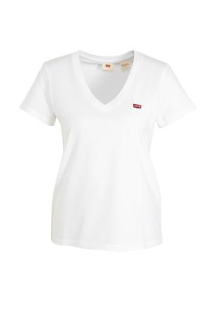 T-shirt PERFECT VNECK met logo white