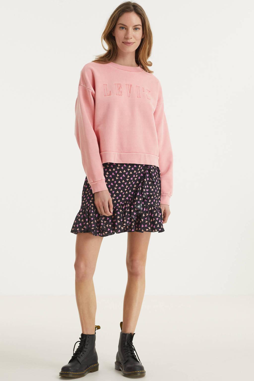 Levi's sweater met logo lichtroze, Lichtroze