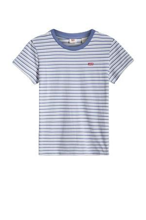 gestreepte perfect T-shirt blauw