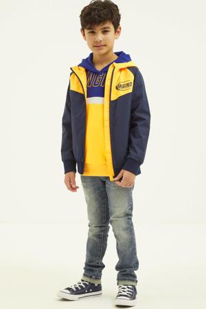 zomerjas Tylo donkerblauw/oranje