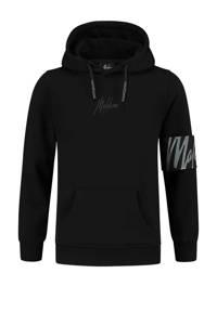Malelions hoodie met logo zwart, Zwart