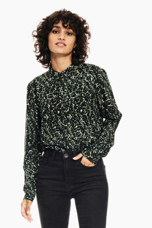 blouse met all over print pine grove