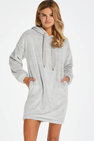 fleece loungejurk Snuggle grijs