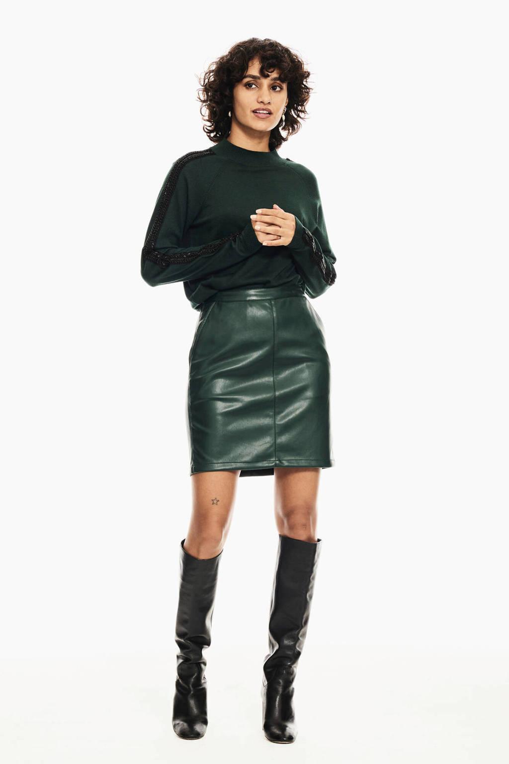 Garcia imitatieleren rok groen, Groen