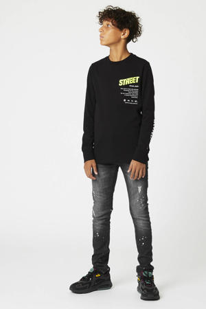 slim fit jogdenim zwart