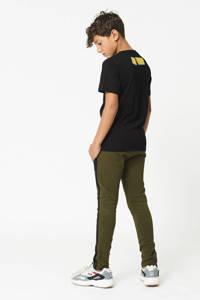 CoolCat Junior T-shirt Erik met tekst zwart/wit, Zwart/wit