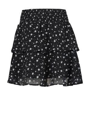 rok met sterren zwart/wit