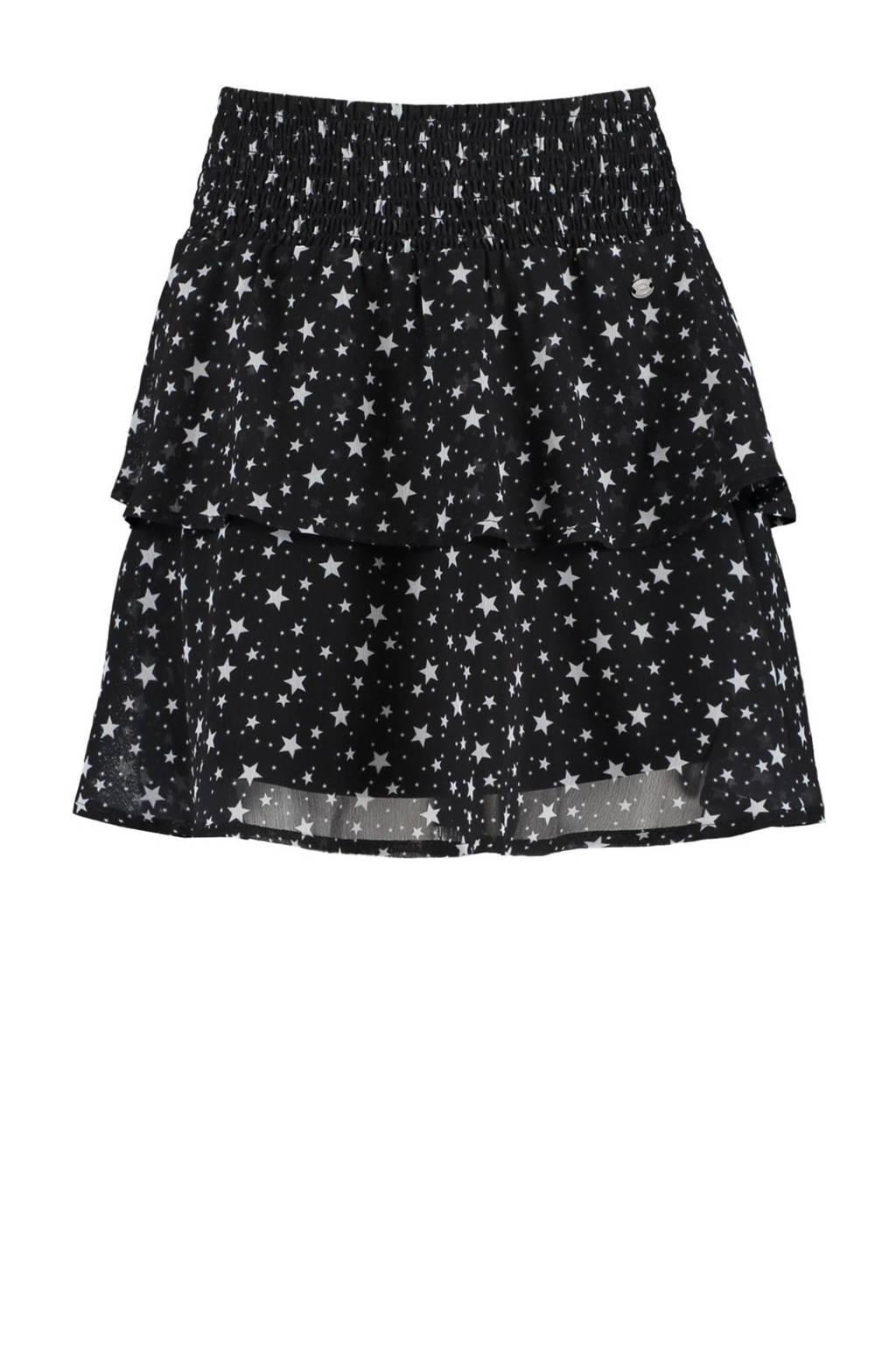 CoolCat Junior rok Ruby met sterren zwart/wit, Zwart/wit
