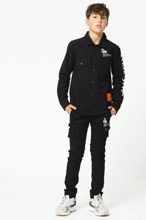 overhemd Buddy met tekst zwart