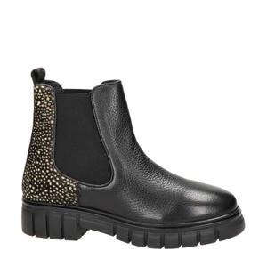 Tygo  leren chelsea boots zwart
