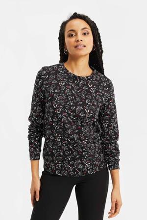 sweater van biologisch katoen black dessin