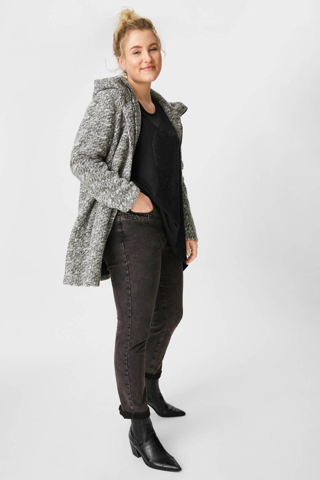 C&A slim fit jeans grijs stonewashed, Grijs stonewashed