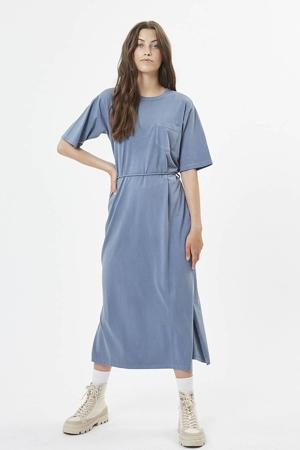 jersey jurk Philine  lichtblauw