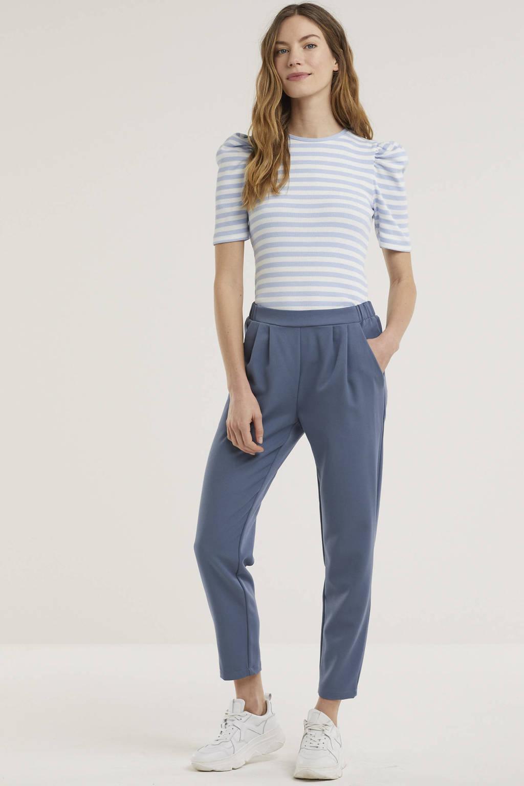 Minimum tapered fit pantalon Sofja lichtblauw, Lichtblauw