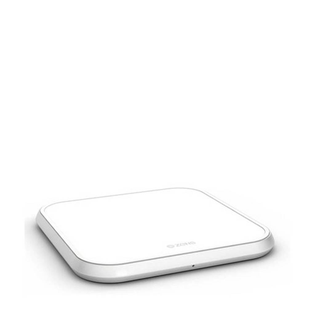 ZENS ALU SINGLE WC 10 Single Fast Wireless Charger draadloze snellader, Wit