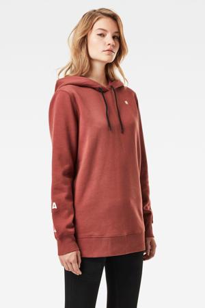 hoodie Graphic met logo cinnamon red