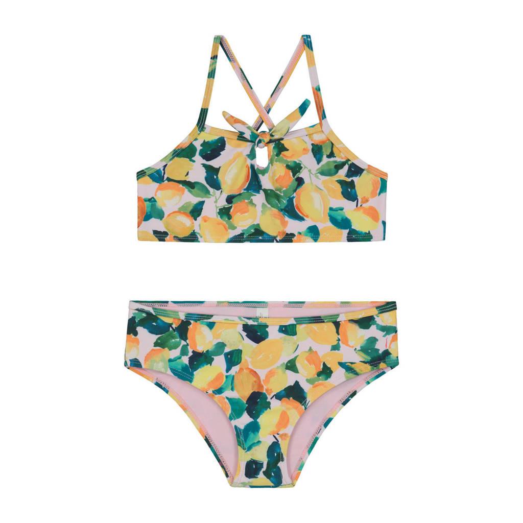Shiwi crop bikini Lemonade geel/wit, Geel/wit