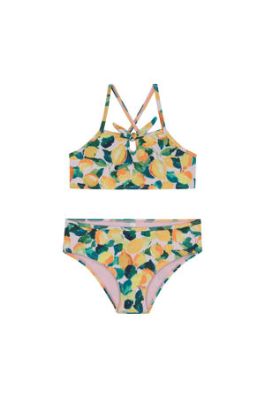 crop bikini Lemonade geel/wit