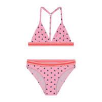 Shiwi triangel bikini Stardust met all over print roze, Roze/blauw