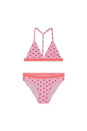 triangel bikini Stardust met all over print roze