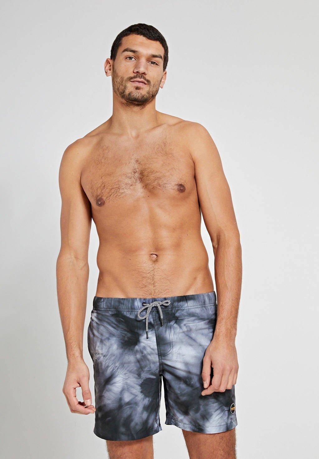 Shiwi tie-dye zwemshort zwart/grijs, Zwart/grijs